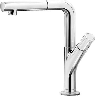Смеситель кухонный однорычажный с выдвижным изливом, хром Blanco YOVIS-S 518291
