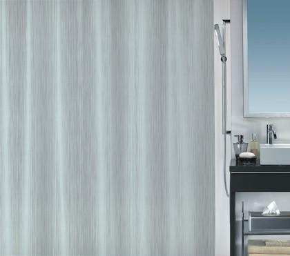Штора для ванной комнаты 180x200см текстильная, серебристая Spirella UNA 1017047