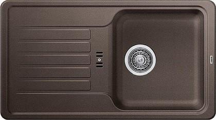 Кухонная мойка оборачиваемая с крылом, гранит, кофе Blanco Favos mini 518188