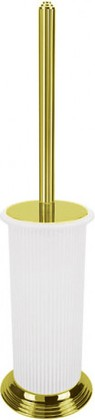 Туалетный ершик с колбой, напольный 43.5см, золото/матовое стекло Colombo Hermitage B3306.HPS