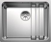 Кухонная мойка Blanco Etagon 500-IF, отводная арматура, полированная сталь 521840