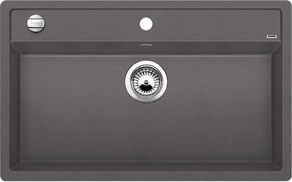 Кухонная мойка без крыла, с клапаном-автоматом, гранит, тёмная скала Blanco DALAGO 8 518852