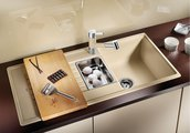 Кухонная мойка оборачиваемая с крылом, гранит, шампань Blanco Zia 6 S 514744