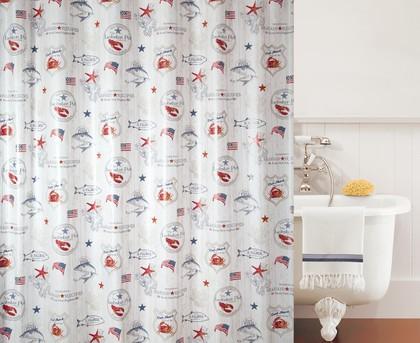 Штора для ванной комнаты 180x200см Spirella LOBSTER POT 1017508