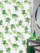 Штора для ванны 180x200см текстильная зелёная Spirella Frog 1013541