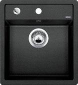 Кухонная мойка без крыла, с клапаном-автоматом, гранит, антрацит Blanco Dalago 45 517156