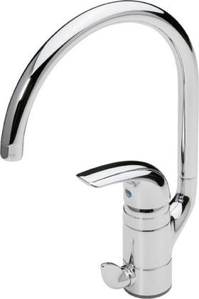 Смеситель для кухни однорычажный с клапаном для посудомоечной машины, хром Oras VIENDA 1739F