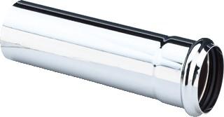 Труба из хромированной латуни для раковины, 125мм Viega 102647