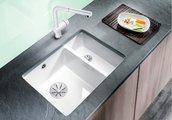 Кухонная мойка Blanco Subline 350/150-U, отводная арматура, магнолия 523742