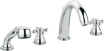 Смеситель вентильный встраиваемый на 4 отверстия на бортик ванны, хром Grohe SINFONIA 25033000