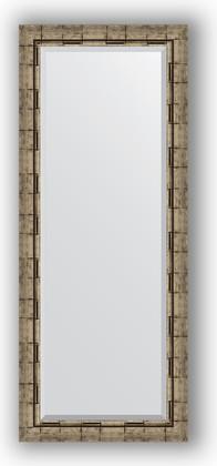 Зеркало 58x143см с фацетом 30мм в багетной раме старый бамбук Evoform BY 1166