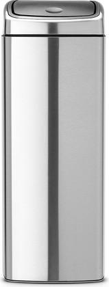 Ведро для мусора прямоугольное 25л стальное матовое Brabantia Touch Bin 384929