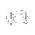 Смеситель для кухни Omoikiri Nakagawa-GR, leningrad grey 4994318