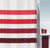 Штора для ванной 180x200см текстильная красная Spirella FOUR 1016269