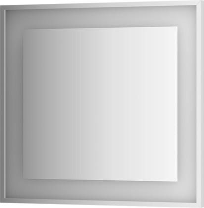 Зеркало 80x75 в багетной раме со встроенным LED-светильником Evoform BY 2203