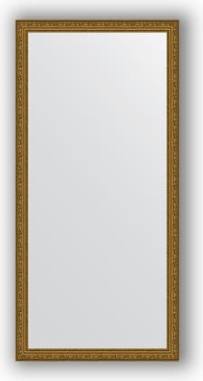 Зеркало в багетной раме 74x154см виньетка состаренное золото 56мм Evoform BY 3327