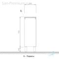 Шкаф средний подвесной, 1 дверь, правый 30x34x72см Verona Urban UR402R
