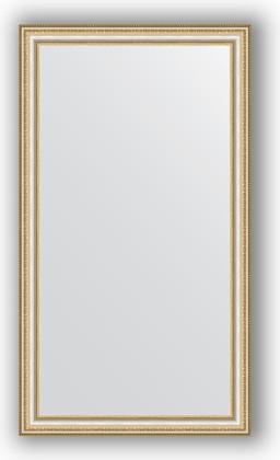 Зеркало 65x115см в багетной раме бусы платиновые Evoform BY 1087