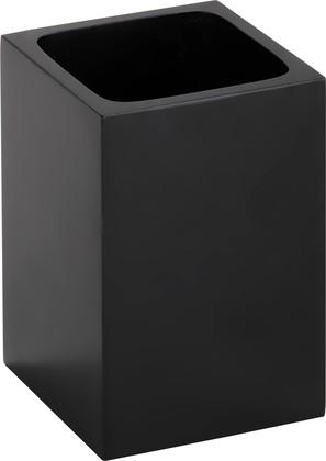 Стакан для зубных щёток Bemeta Gamma отдельностоящий, квадратный, чёрный 145611310