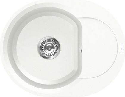 Кухонная мойка оборачиваемая с крылом, гранит, белый Omoikiri Sakaime 60E-WH 4993136