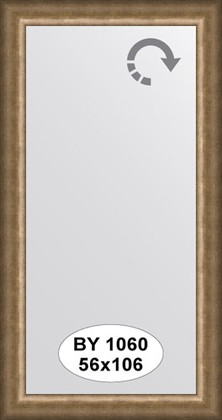 Зеркало 56x106см в багетной раме старая бронза Evoform BY 1060