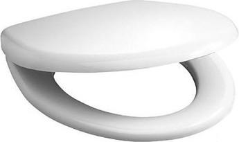 Сиденье для унитаза с крышкой, пластиковые петли, белое Jika Olymp 916403000009