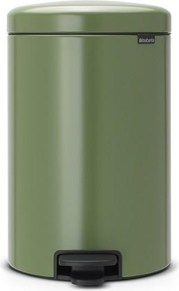 Мусорный бак с педалью 20л, зеленый мох Brabantia Newicon 113925