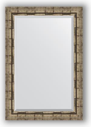 Зеркало 63x93см с фацетом 30мм в багетной раме старый бамбук Evoform BY 1176
