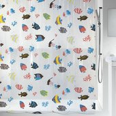 Штора для ванной Spirella Fish, 180x200см, полихлорвинил, мультиколор 1021960