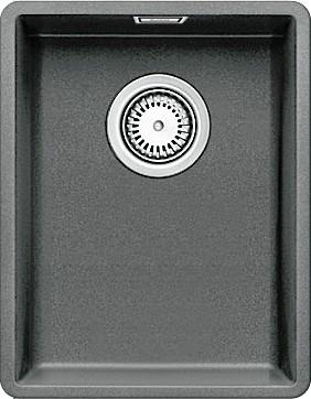 Кухонная мойка без крыла, с клапаном-автоматом, гранит, алюметаллик Blanco Subline 320-F 519792
