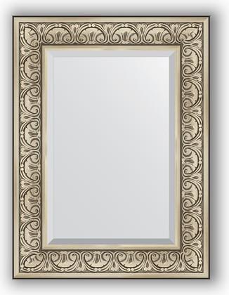 Зеркало с фацетом в багетной раме 60x80см барокко серебро 106мм Evoform BY 3398