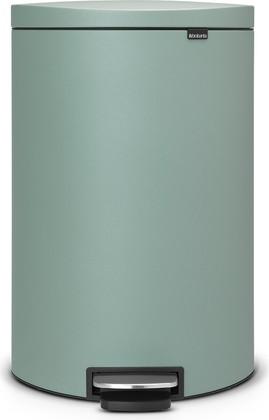 Мусорный бак с педалью 40л цвета зелёной мяты Brabantia FlatBack+ 103902