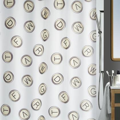 Штора для ванной комнаты 180x200см Spirella OLIVETTA 1017901
