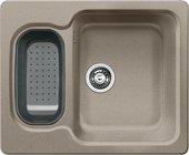 Кухонная мойка оборачиваемая без крыла с коландером, гранит, серый беж Blanco NOVA 6 517374