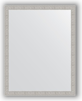Зеркало в багетной раме 71x91см волна алюминий 46мм Evoform BY 3262