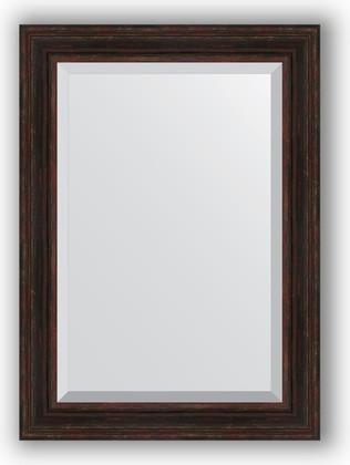 Зеркало с фацетом в багетной раме 79x109см темный прованс 99мм Evoform BY 3473