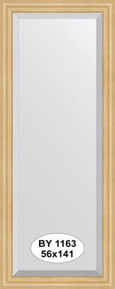 Зеркало 56x141см с фацетом 30мм в багетной раме сосна Evoform BY 1163