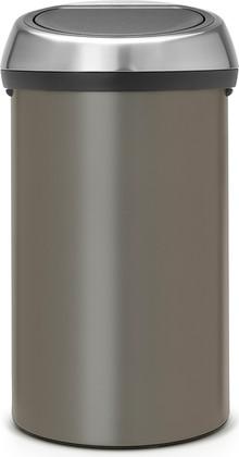 Ведро для мусора 60л платиновое Brabantia TOUCH BIN 402463