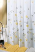 Штора для ванной, полиэстер 180x200см жёлтая Grund Stella Marina 425.98.090