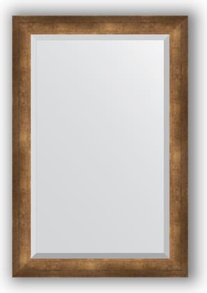 Зеркало 62x92см с фацетом 30мм в багетной раме старая бронза Evoform BY 1178
