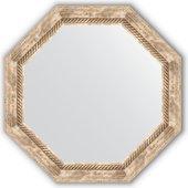 Зеркало Evoform Octagon 632x632 в багетной раме 70мм, прованс с плетением BY 3758