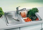 Кухонная мойка чаша справа, крыло слева, нержавеющая сталь зеркальной полировки Blanco Classic 4 S 507701
