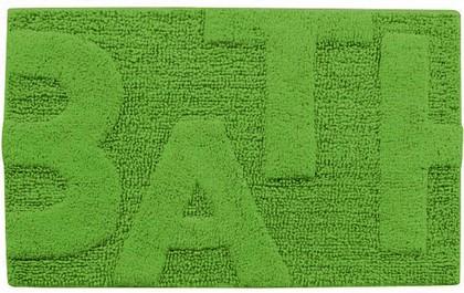 Коврик для ванной комнаты хлопковый 50x80см зелёный Spirella Bath 4006981