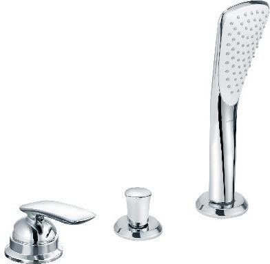 Смеситель однорычажный без излива на 3 отверстия на бортик ванны, хром Kludi BALANCE 524480575