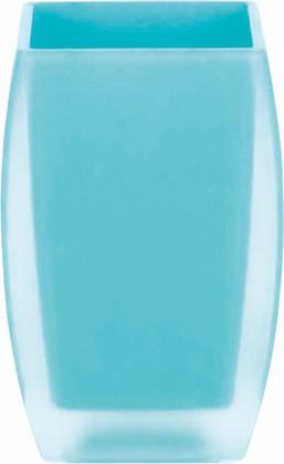 Стакан для зубных щёток голубой Spirella Freddo 1016096