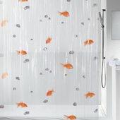 Штора для ванной Spirella Goldfish, 180x200см, полихлорвинил, оранжевый 1000097