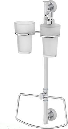 Стойка для ванной FBS Vizovice настенная, 2 аксессуара VIZ 077+UNI 027,033