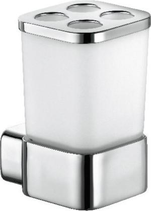 Стакан для зубных щёток Kludi E2, стекло, хром 4998205