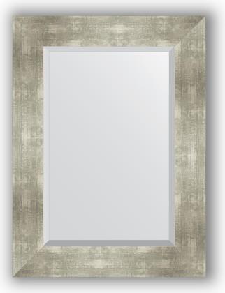 Зеркало 56x76см с фацетом 30мм в багетной раме алюминий Evoform BY 1130