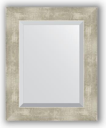 Зеркало 41x51см с фацетом 30мм в багетной раме алюминий Evoform BY 1361